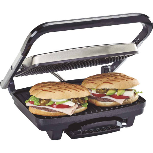 Hamilton Beach 95 Sq. In. Panini Press Electric Grill