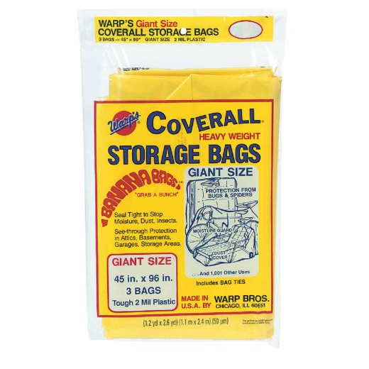 Warp's Coverall 45 In. x 96 In. Heavyweight Storage Bag (3-Count)