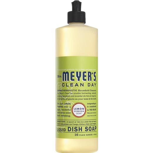 Mrs. Meyer's Clean Day 16 Oz. Lemon Verbena Scent Liquid Dish Soap