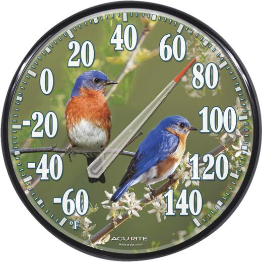 """Acurite 12-1/2"""" Fahrenheit -60 To 140 Outdoor Wall Thermometer"""