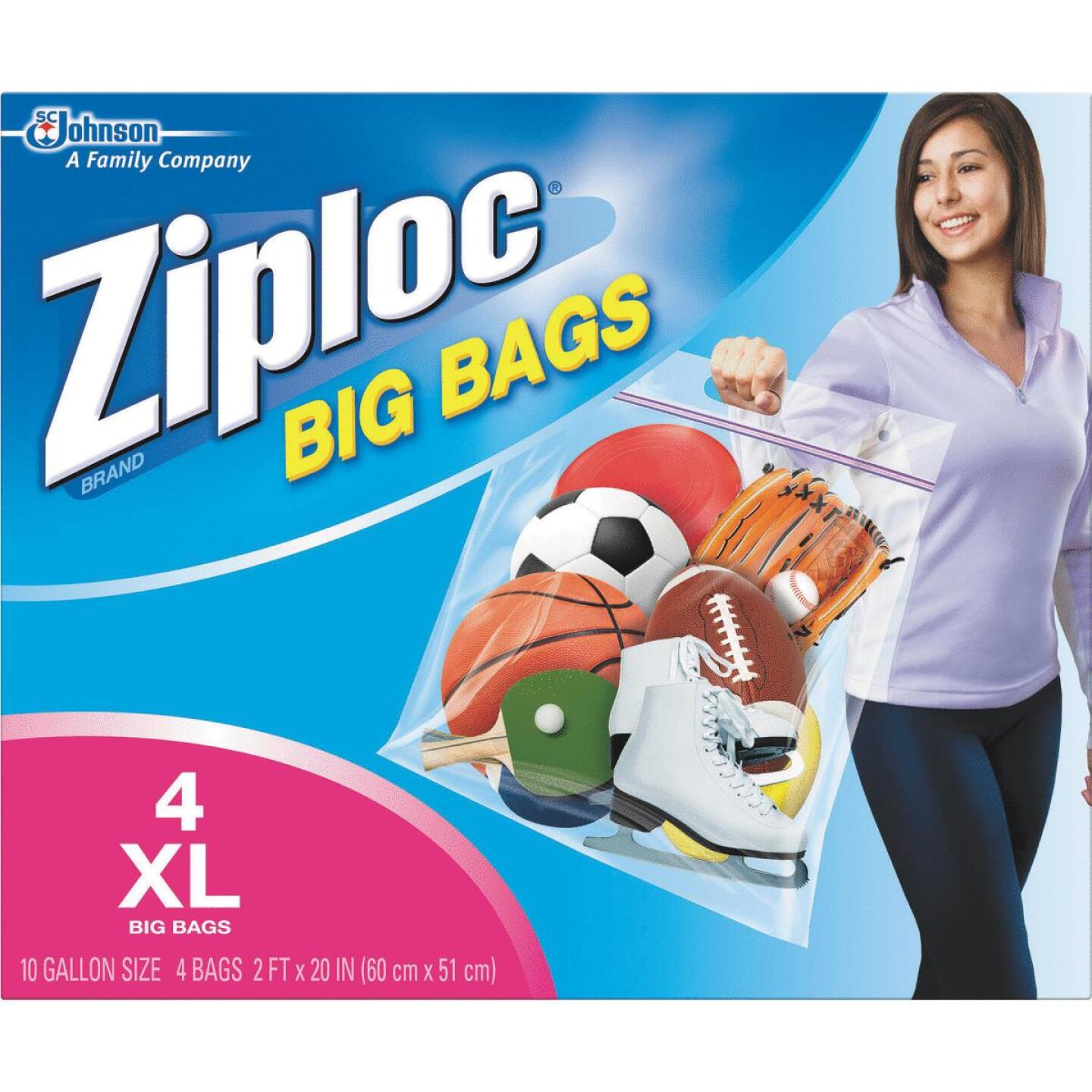 Ziploc Big Bag 10 Gallon XL Storage Bags, (4-Count) Image 1