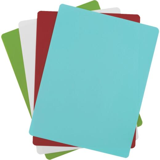 GoodCook 15.75 In. x 12 In. Assorted Colors Flexible Chopping Mat (4 Pack)