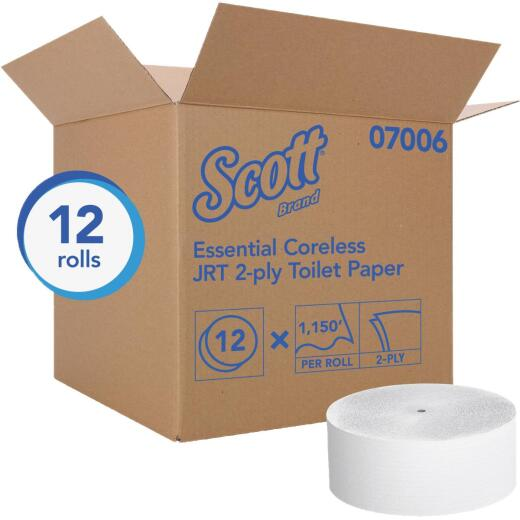 Scott Essential Jumbo Roll Coreless Toilet Paper (12 Roll)