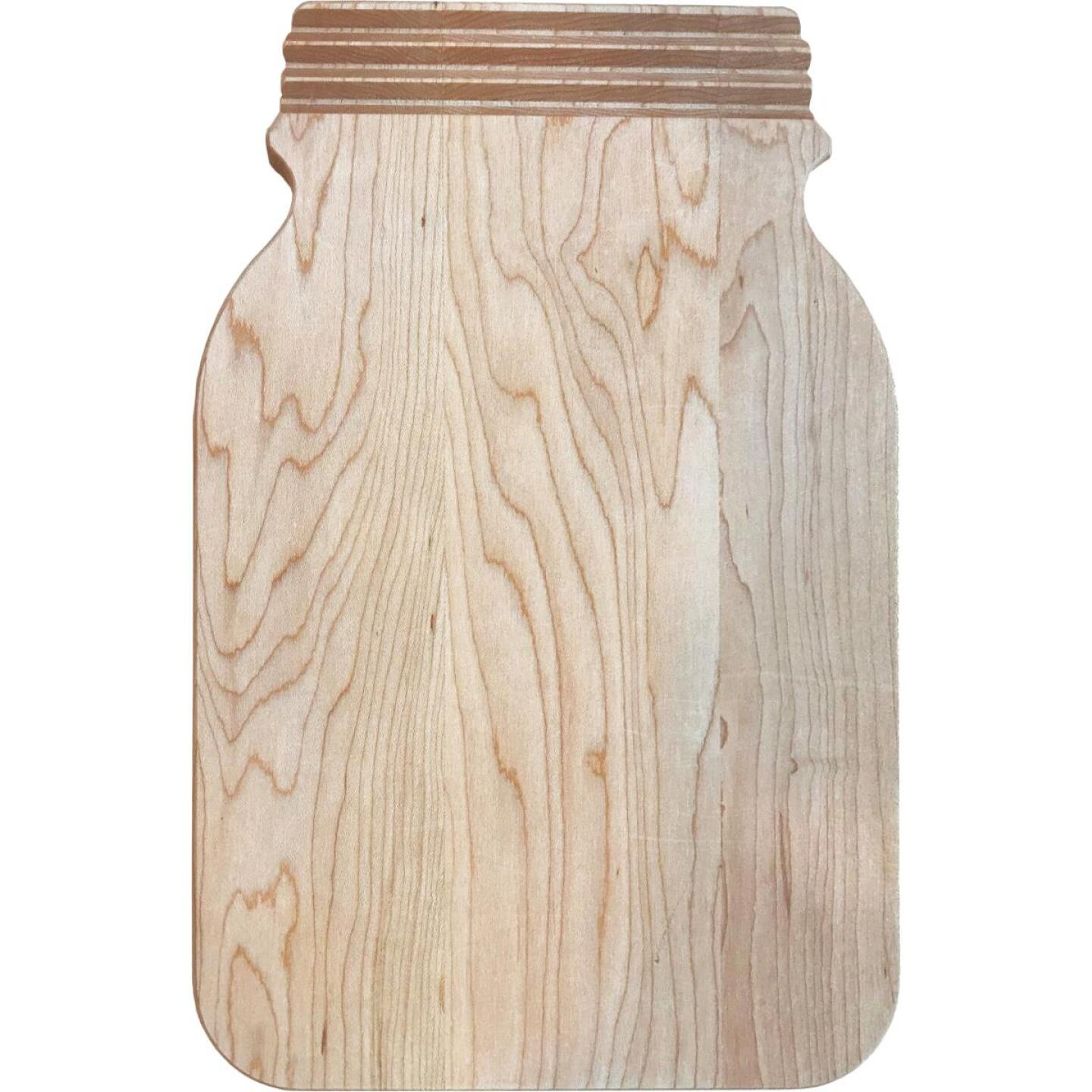 Snow River 8 In. x 12 In. Canning Jar Shape Cutting Board Image 1
