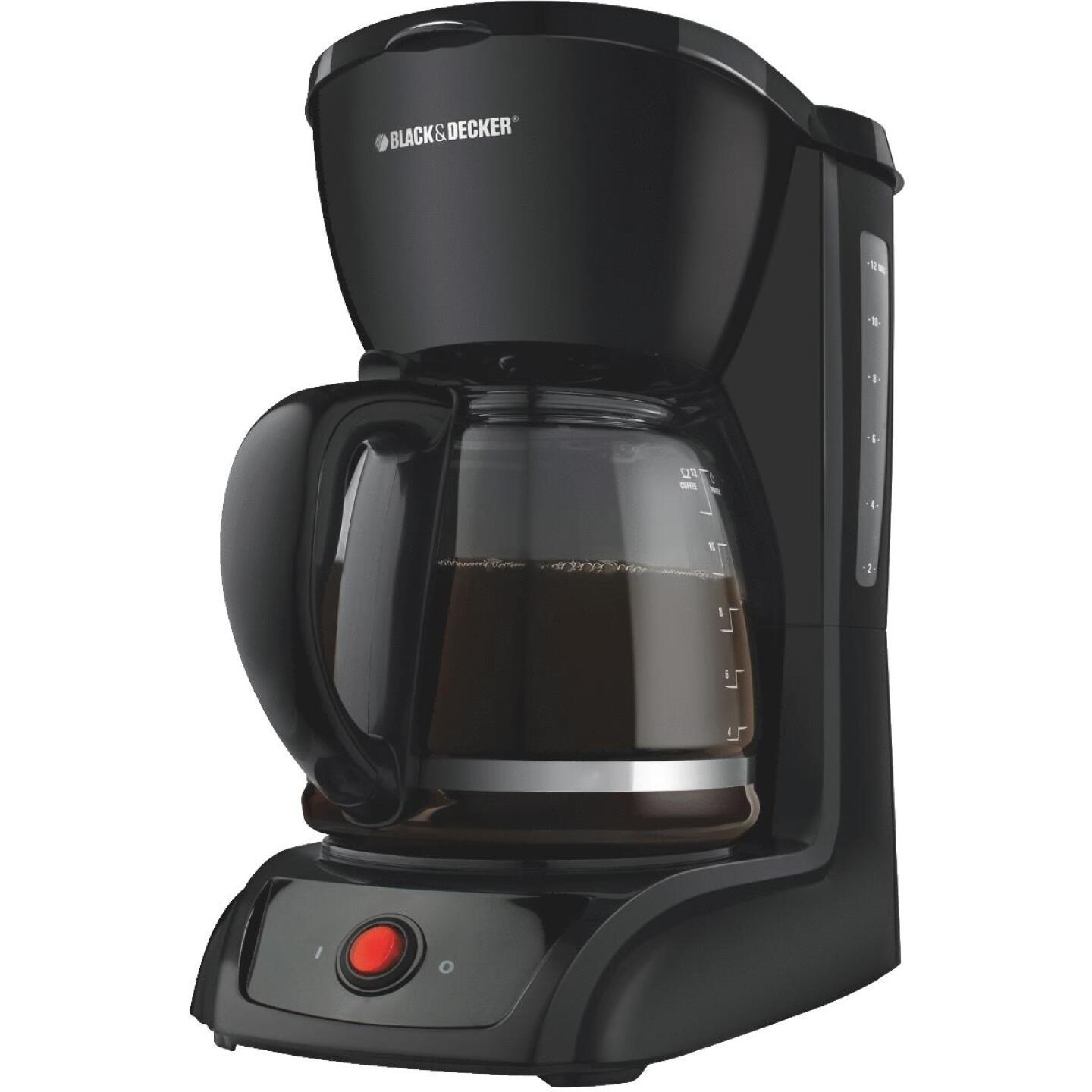 Black & Decker 12 Cup Black Coffee Maker Image 1