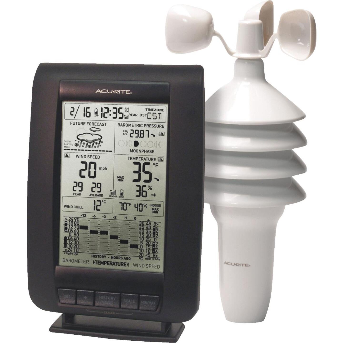 Acu-Rite Wind Weather Center Weather Station Image 1