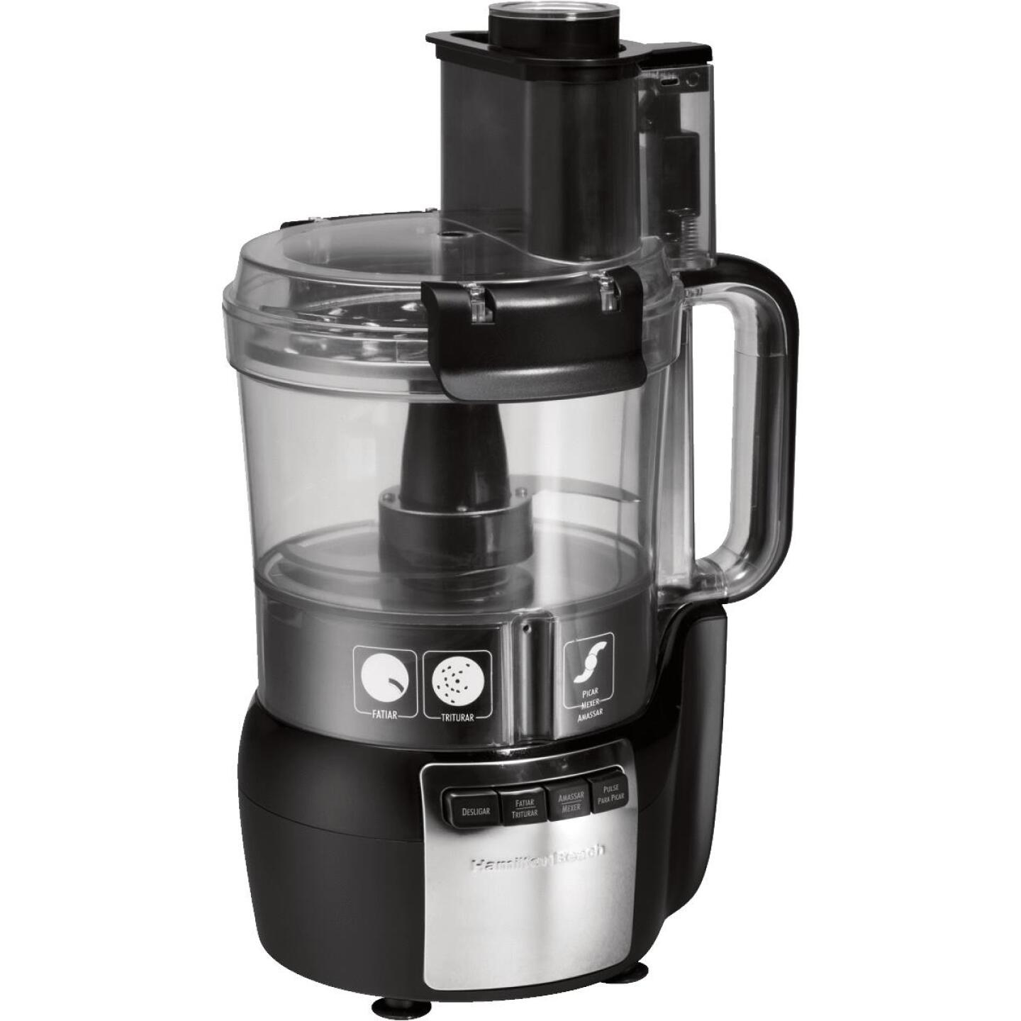 Hamilton Beach Stack & Snap 10-Cup Black Food Processor with Big Mouth Image 2