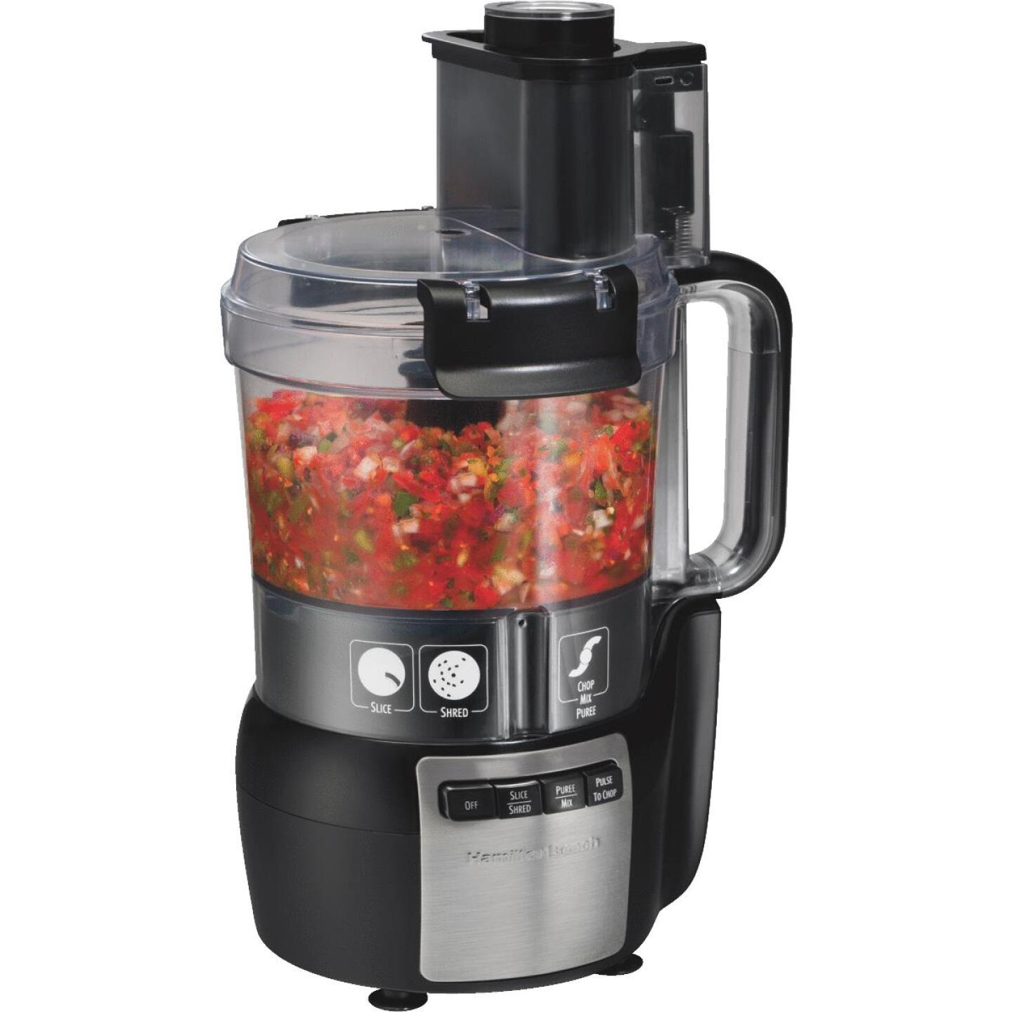 Hamilton Beach Stack & Snap 10-Cup Black Food Processor with Big Mouth Image 1