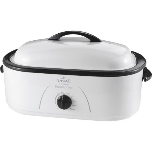 Rival 18 Qt. White Electric Roaster