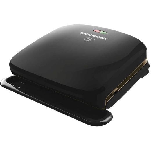 George Foreman Removable Grid 60 Sq. In. Black Electric Grill