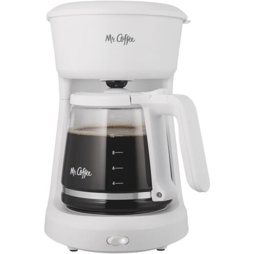 Mr Coffee 12 Cup Switch White Coffee Maker