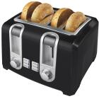Black & Decker 4-Slice Black Toaster Image 1