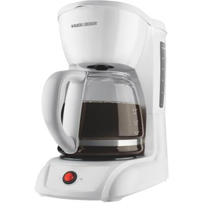 Black & Decker 12 Cup White Coffee Maker