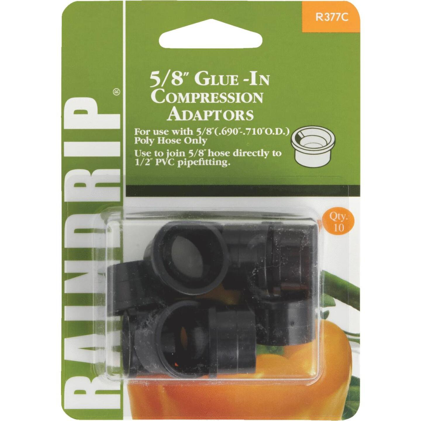 Raindrip 5/8 In. PVC x 5/8 In. Compression Glue-In Hose-To-Drip Adapter (10-Pack) Image 1