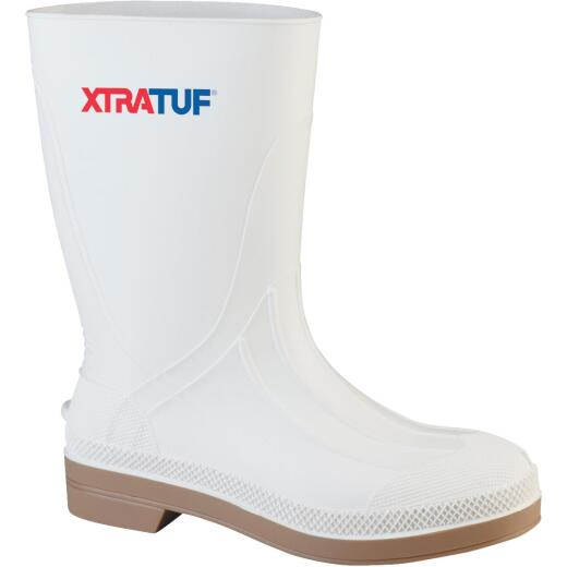 Honeywell XtraTuf Men's Size 4 White PVC Shrimp Boot