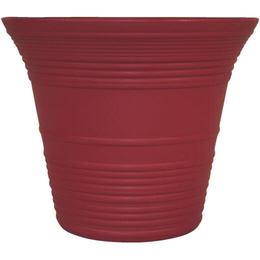 Myers Sedona 12 In. Polypropylene Warm Red Planter