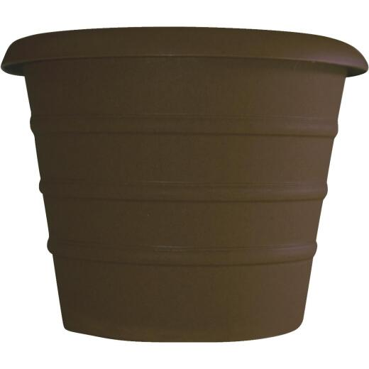 Myers Marina 8 In. Dia. Chocolate Poly Flower Pot