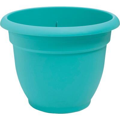 Bloem Ariana 12 In. Plastic Self Watering Bermuda Teal Planter