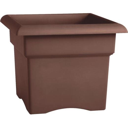 Bloem Veranda 14 In. Resin Chocolate Planter