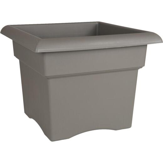 Bloem Veranda 18 In. Resin Charcoal Planter