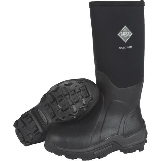 Muck Arctic Sport Men's Size 11 Black Hi Performance Rubber Boot