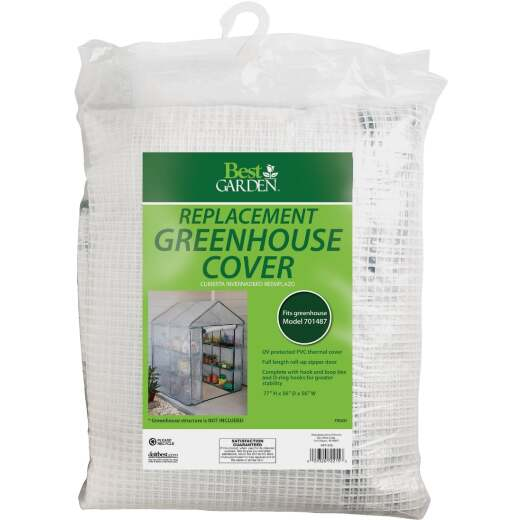 Best Garden 4 Ft. 8 In. W. x 6 Ft. 5 In. H. x 4 Ft. 8 In. D. Replacement Cover For Walk-In Greenhouse