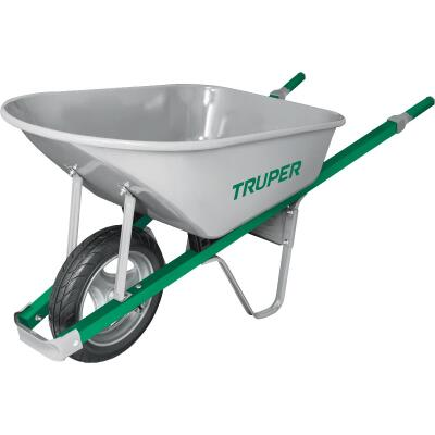 Truper Tru Tough 6 Cu. Ft. Steel Wheelbarrow