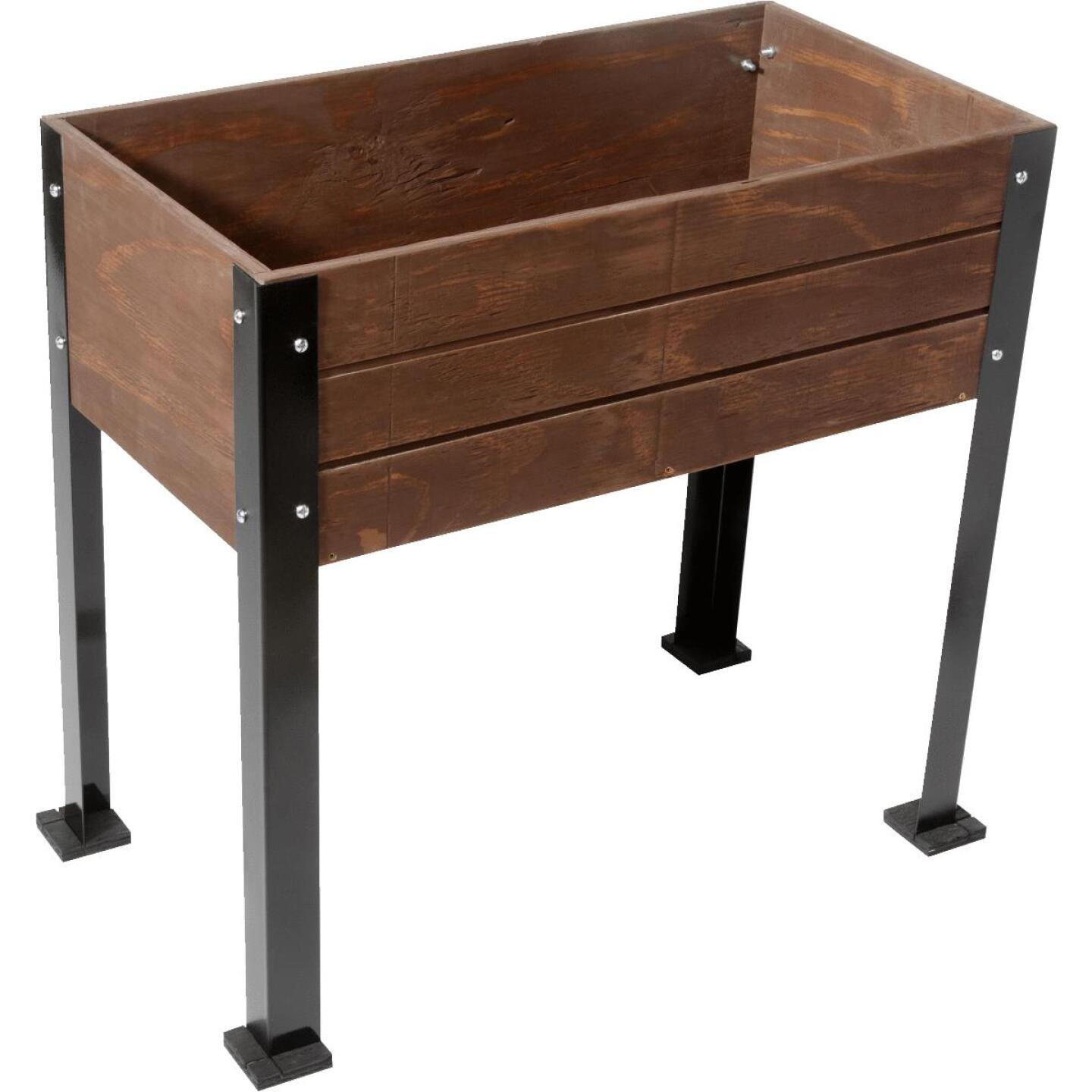 SGC Planters 10 In. W. x 32 In. H. x 32 In. L. Espresso Plywood Raised Garden Bed Garden System Image 1