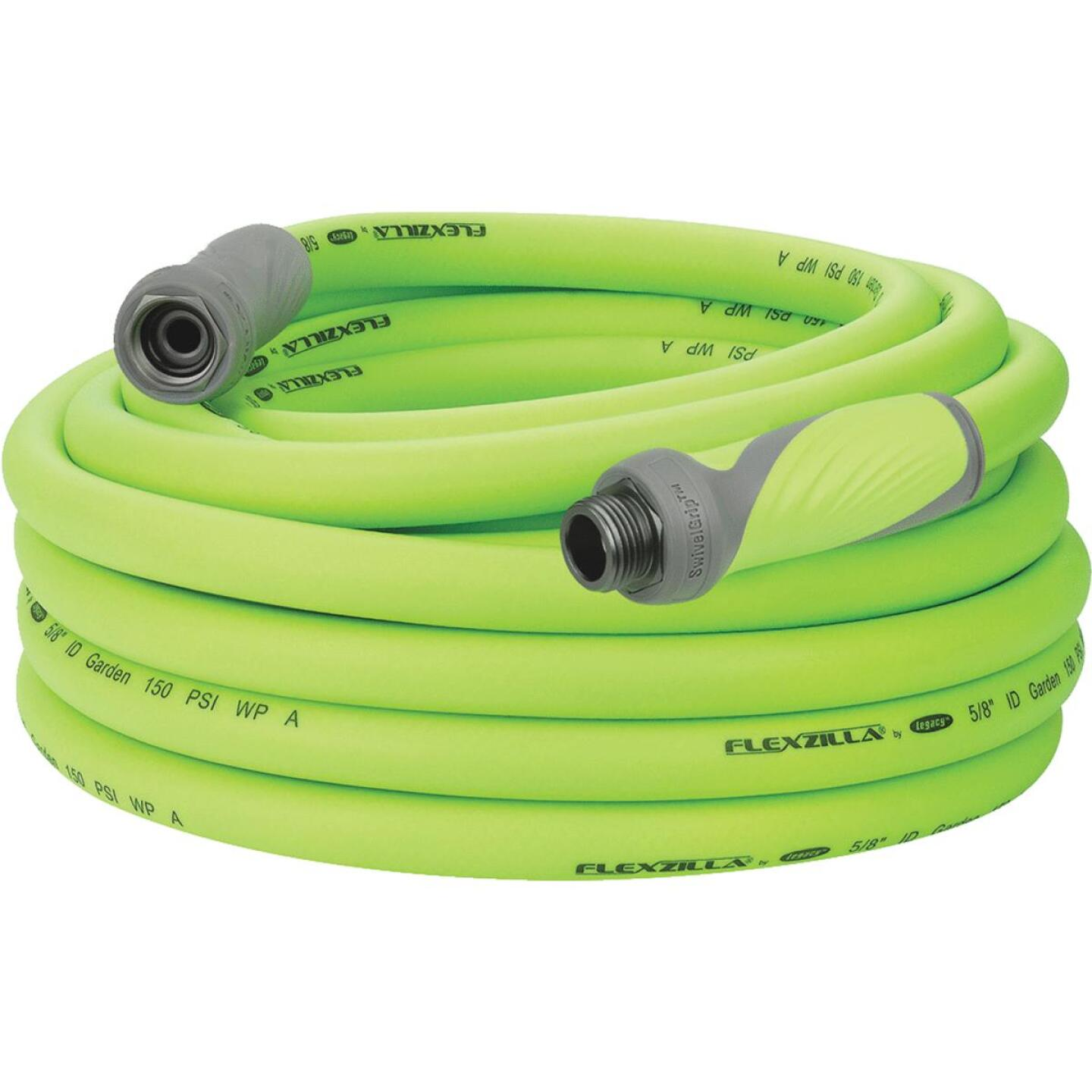 Flexzilla 5/8 In. Dia. x 50 Ft. L. Drinking Water Safe Garden Hose with SwivelGrip Connections Image 1