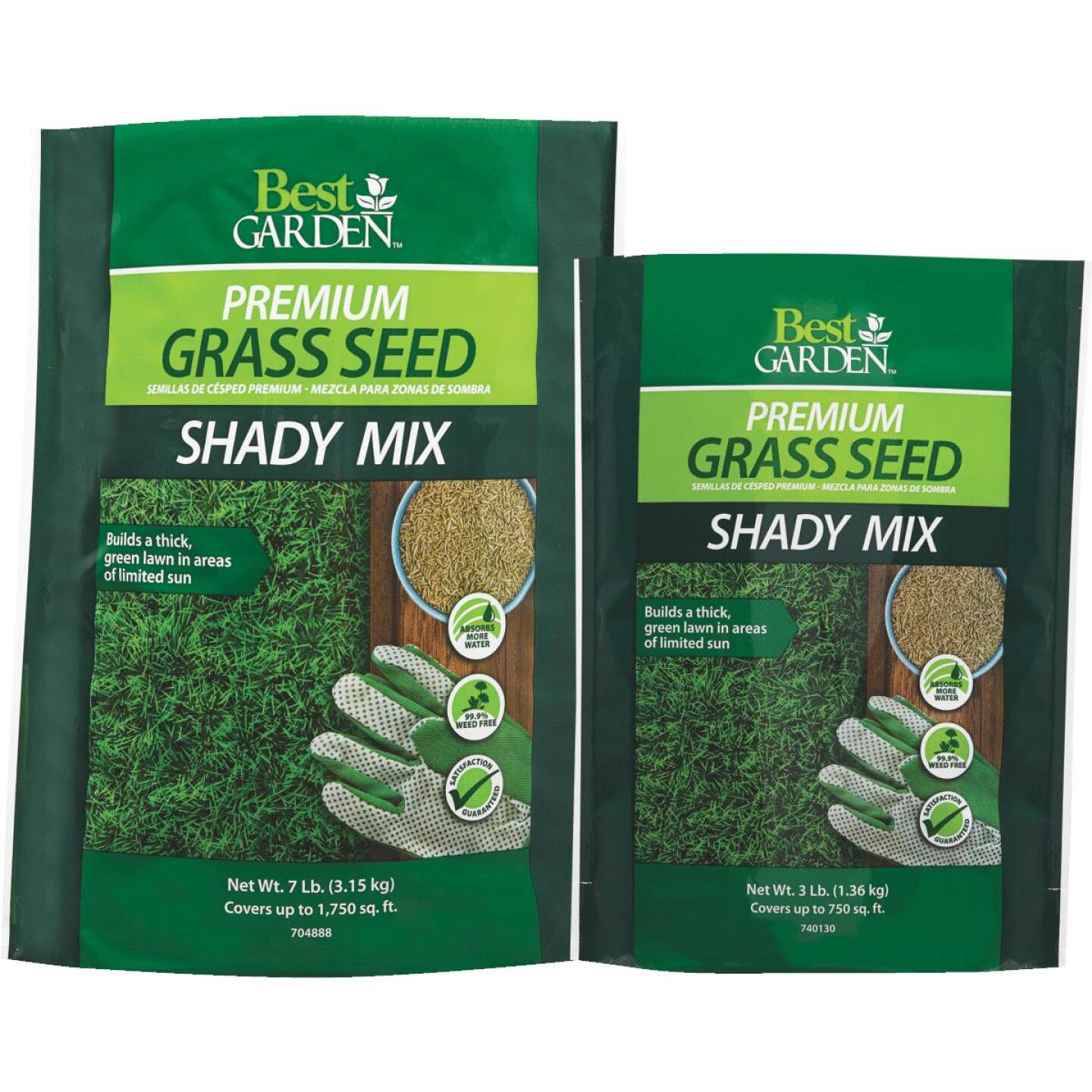 Best Garden 7 Lb. 1750 Sq. Ft. Coverage Shady Grass Seed Image 2