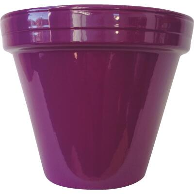 Ceramo Spring Fever 4-1/2 In. H. x 3-3/4 In. Dia. Violet Clay Flower Pot