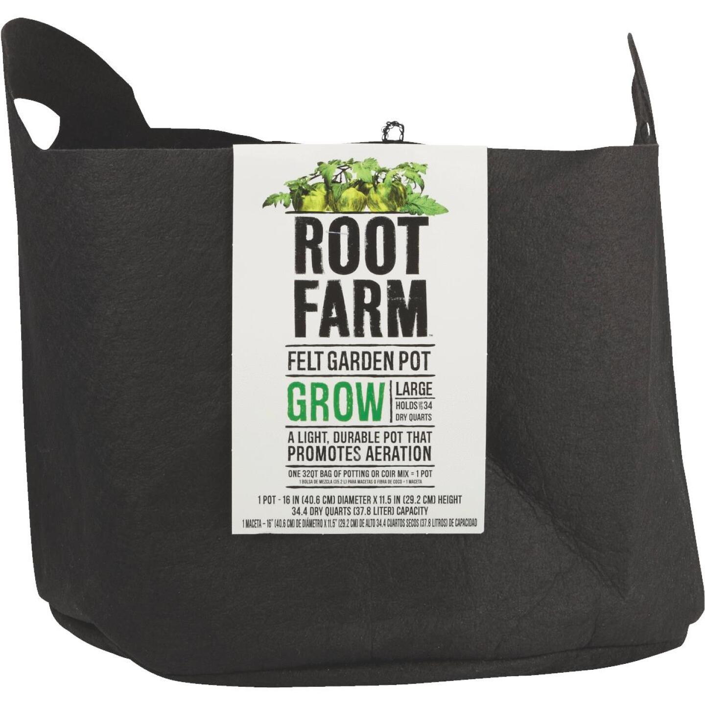 Root Farm Felt Large Garden Pot Image 2