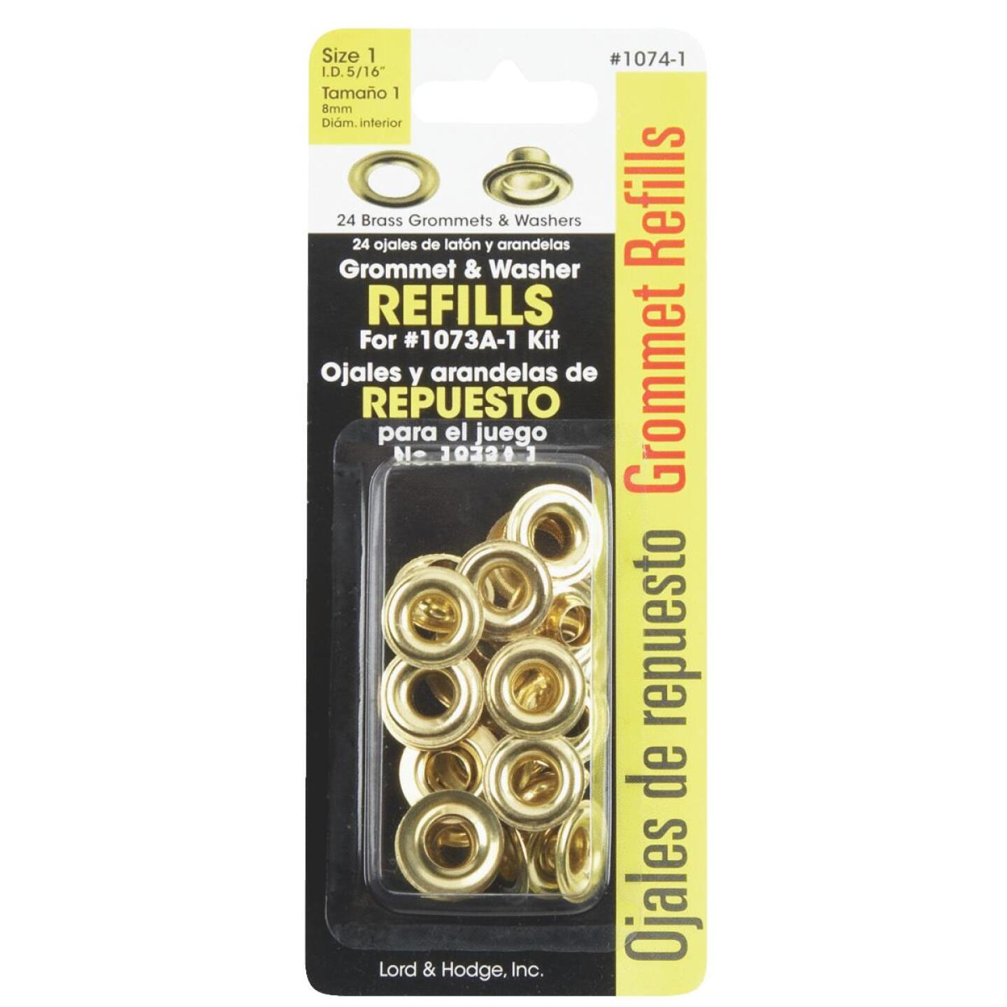 Lord & Hodge 5/16 In. Brass Grommet Refills (24 Ct.) Image 2