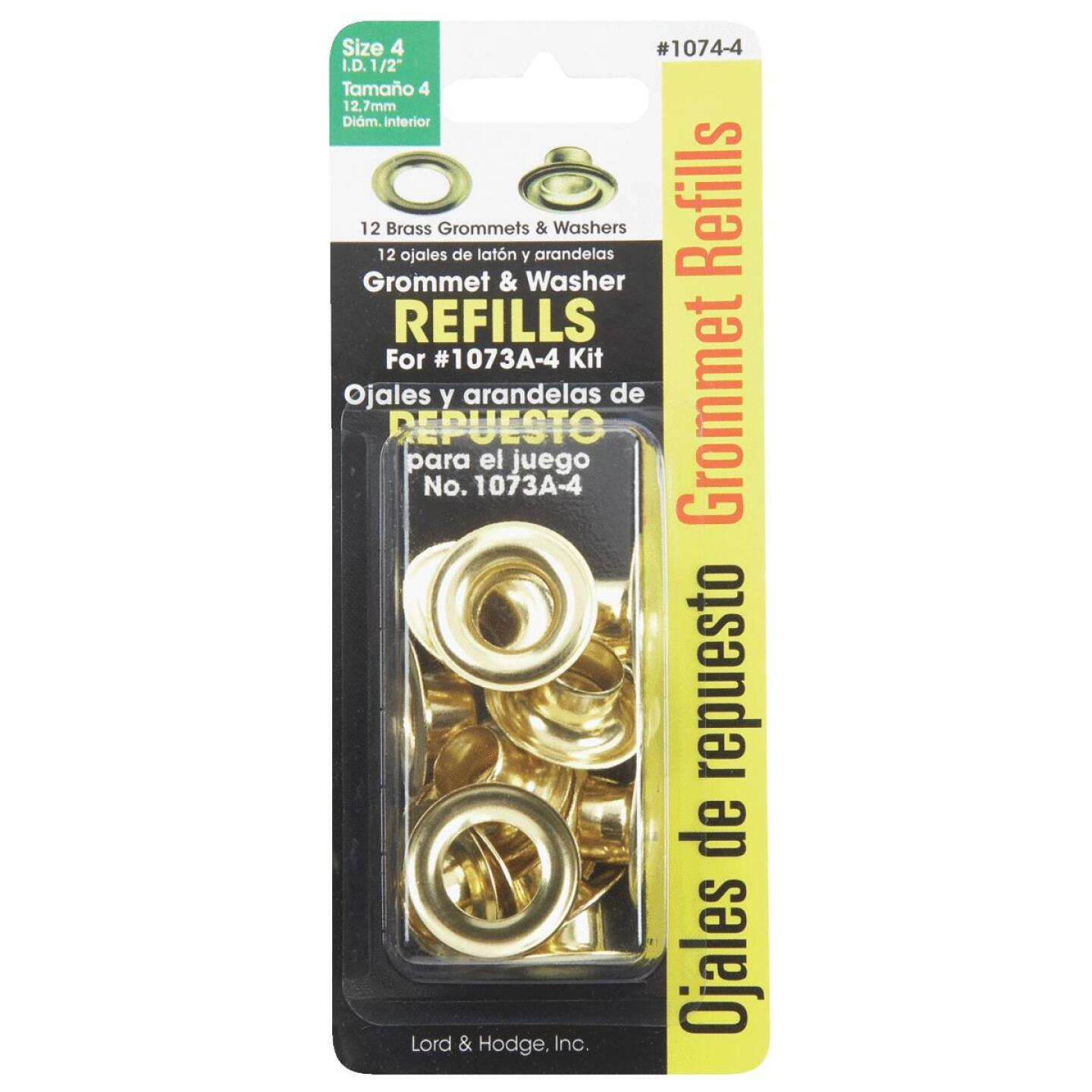 Lord & Hodge 1/2 In. Brass Grommet Refills (12 Ct.) Image 2