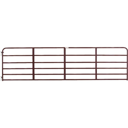 Tarter 50 In. H. x 16 Ft. L. x  1-3/4 In. Tube Diameter Red Economy Tube Gate