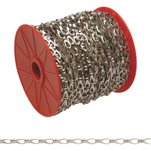 Campbell #2 164 Ft. Chrome-Plated Low-Carbon Steel Coil Chain