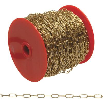 Campbell #5 82 Ft. Brass-Plated Metal Craft Chain