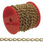 Campbell #70 82 Ft. Brass-Plated Metal Craft Chain Image 1