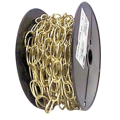 Campbell #10 60 Ft. Brass Finished Metal Craft Chain