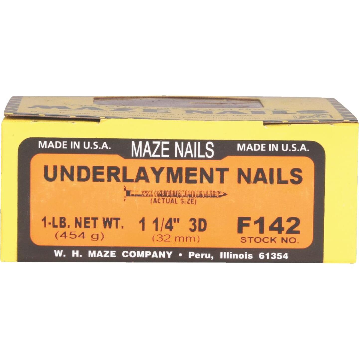 Maze 1-1/4 In. 14 ga Ring Shank Underlayment Flooring Nails (528 Ct., 1 Lb.) Image 2