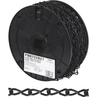 Campbell #14 190 Ft. Black Poly-Coated Low-Carbon Steel Coil Chain