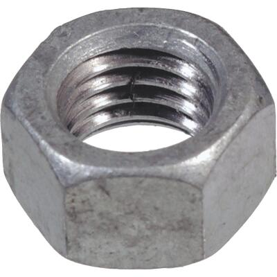 Hillman 1/4 In. 20 tpi Grade 2 Galvanized Zinc Hex Nuts (100 Ct.)