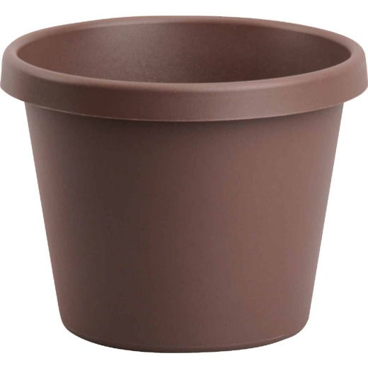 Bloem 8 In. Dia. Chocolate Poly Classic Flower Pot