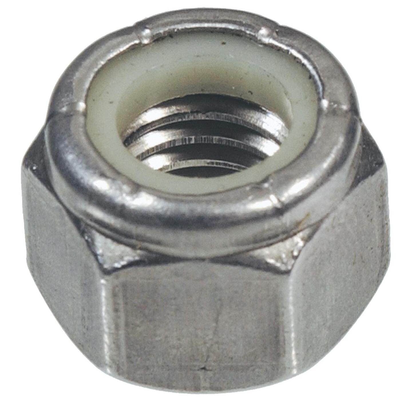 Hillman 3/8 In. 16 tpi Stainless Steel Course Thread Nylon Insert Lock Nut (50 Ct.) Image 1