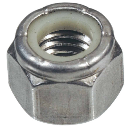 Hillman 3/8 In. 16 tpi Stainless Steel Course Thread Nylon Insert Lock Nut (50 Ct.)
