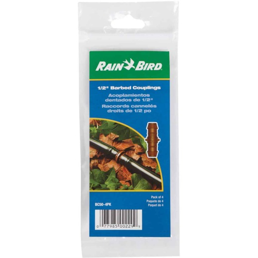 Rain Bird 1/2 In. Tubing Barbed Coupling (4-Pack)