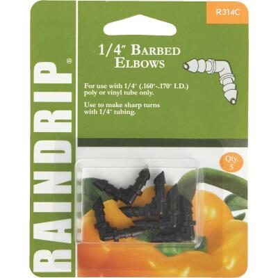 Raindrip 1/4 In. Tubing Double Barbed Elbow (5-Pack)