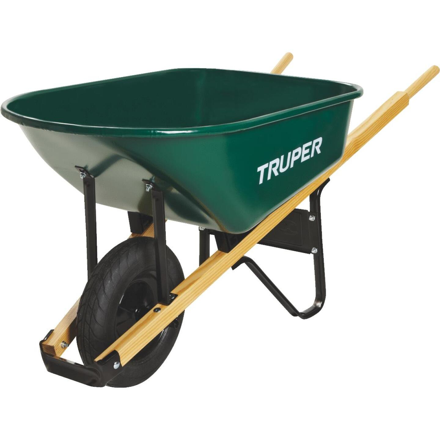Truper 6 Cu. Ft. Steel Wheelbarrow Image 2