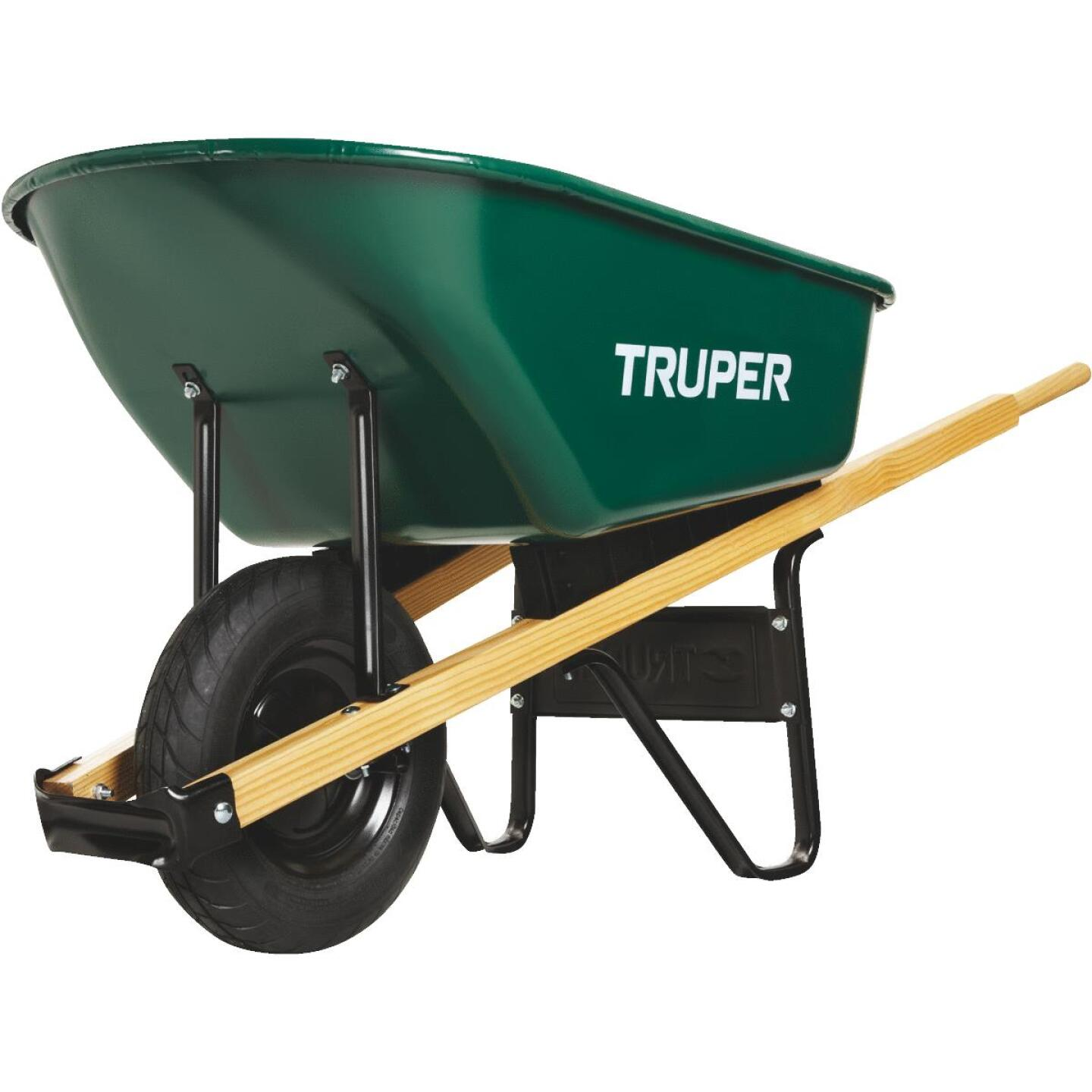 Truper 6 Cu. Ft. Steel Wheelbarrow Image 3