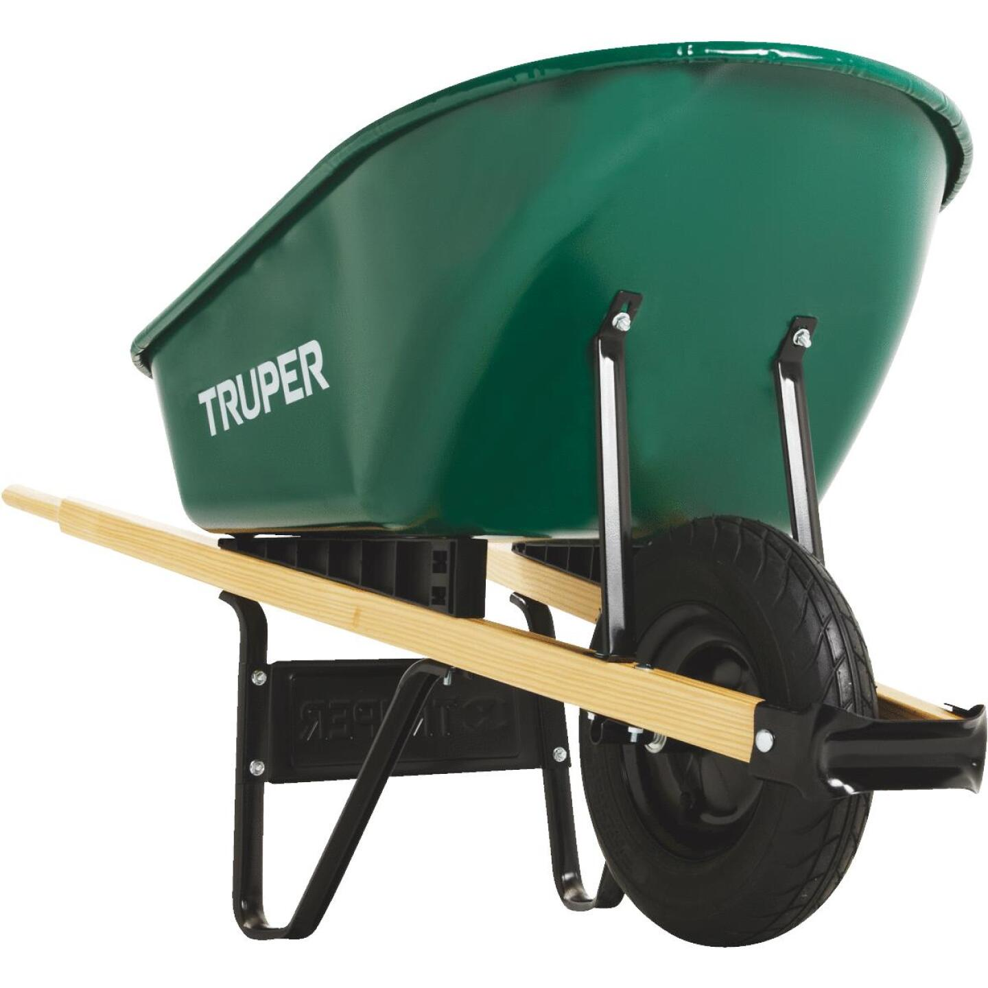 Truper 6 Cu. Ft. Steel Wheelbarrow Image 5